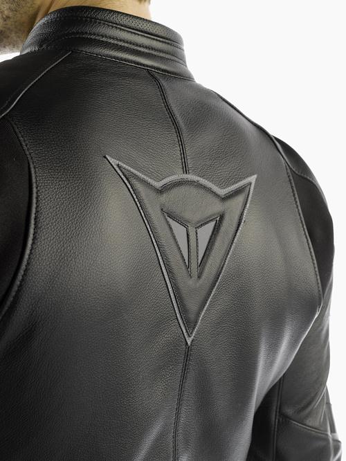 Dainese Alien Summer leather jacket black-black