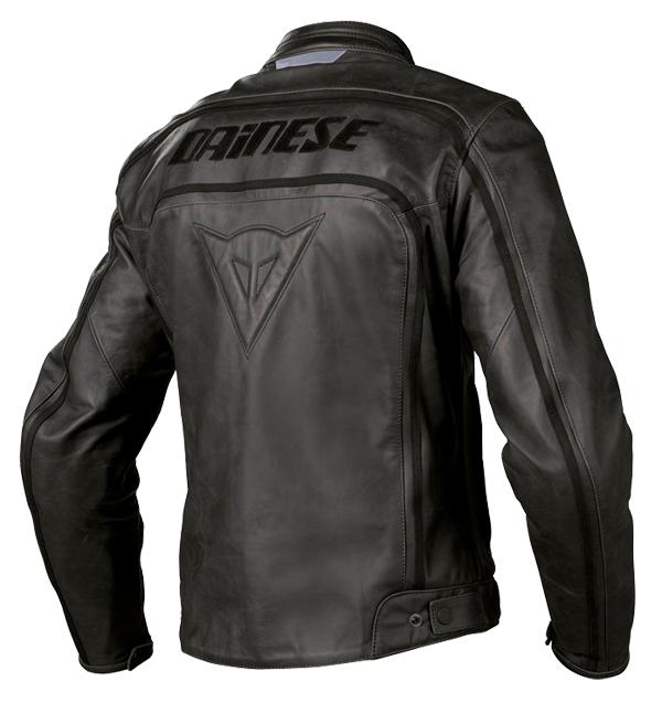 Dainese Tourage Vintage leather jacket black-black