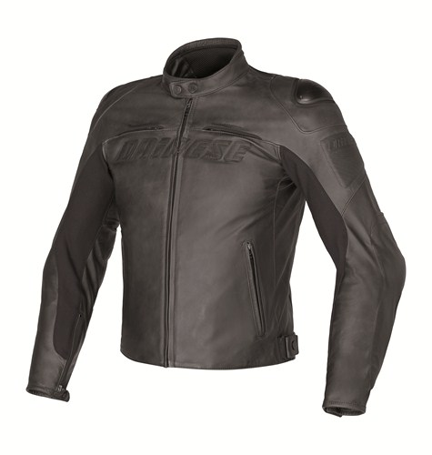 Giacca moto pelle Dainese Speed Naked nera