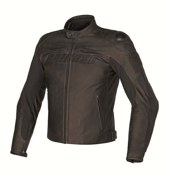 Summer leather motorcycle jacket Dainese Speed ??Naked Dark Brow
