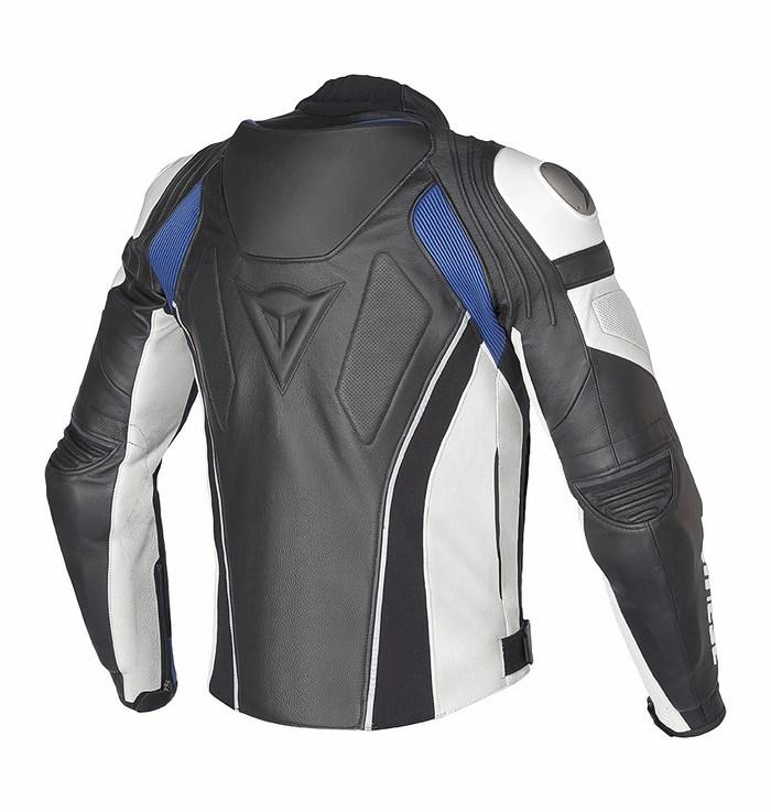 Giacca moto pelle Dainese Super Speed C2 Nero Bianco Blu