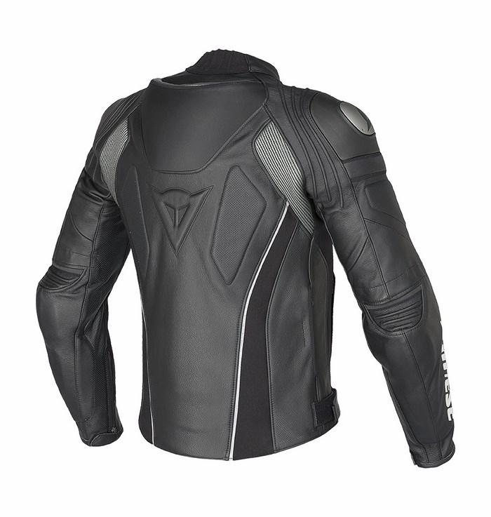 Dainese leather motorcycle jacket summer C2 Super Speed ??Black