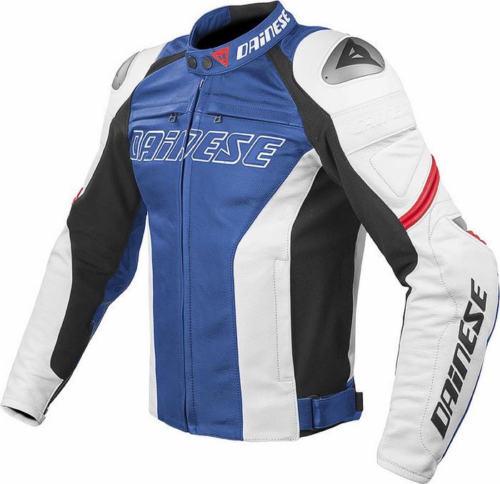 Giacca moto pelle Dainese Racing C2 Blu Bianco Rosso