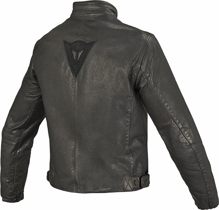 Dainese leather motorcycle jacket Archive Black Guy