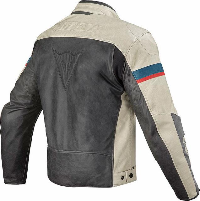 Dainese Stripes Evo leather jacket black-ice