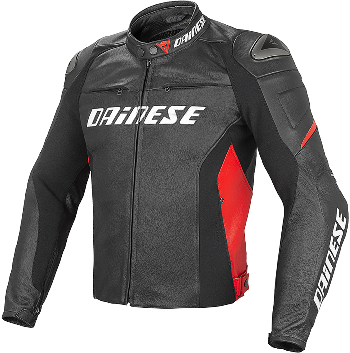Dainese Racing D1 leather jacket Black Red