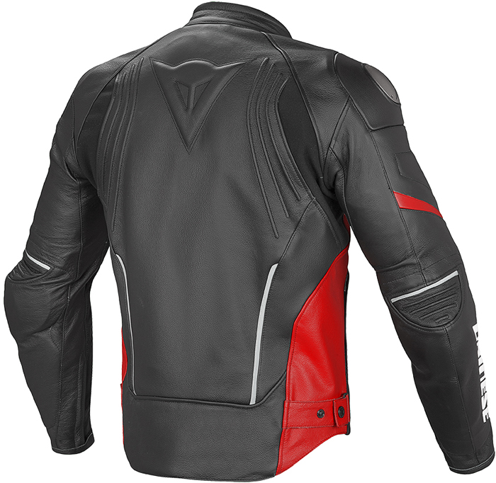 Giacca moto pelle Dainese Racing D1 Nero Rosso