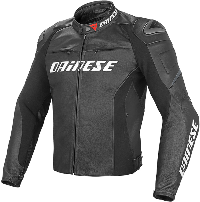 Dainese Racing D1 leather summer jacket Black
