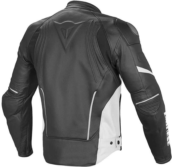 Dainese Racing D1 leather summer jacket Black White
