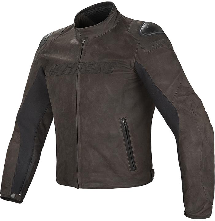 Dainese Street Rider leather jacket Dark Brown