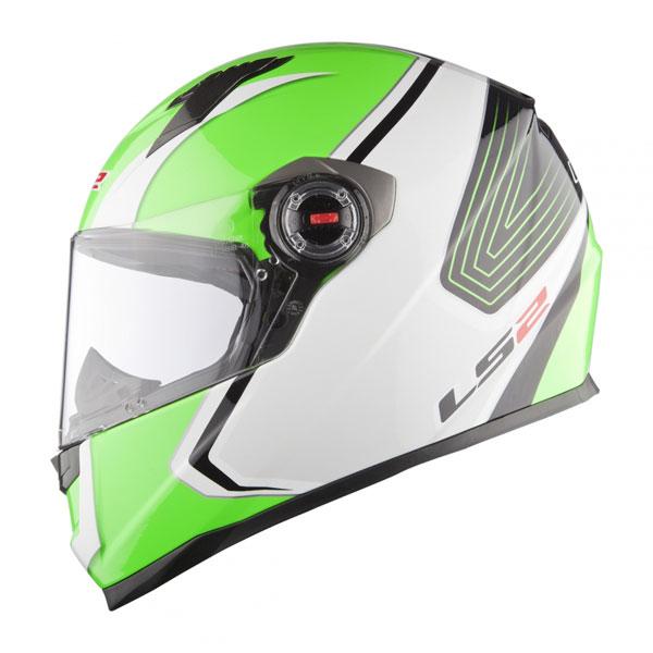 Casco integrale LS2 FF358 Corsa bianco verde