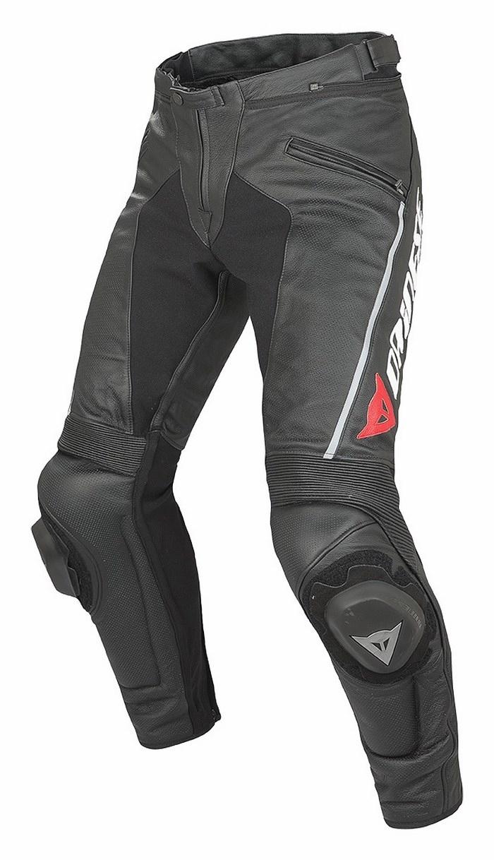 Dainese Delta leather motorcycle pants Summer Pro Evo C2 Black