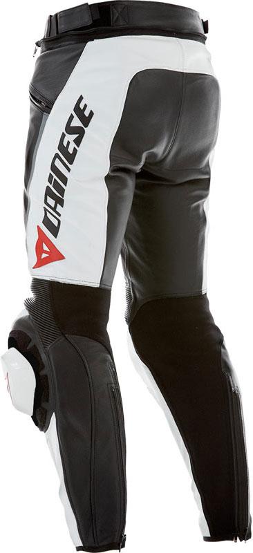 Pantaloni moto pelle estivi Dainese Delta Pro C2 Nero Bianco