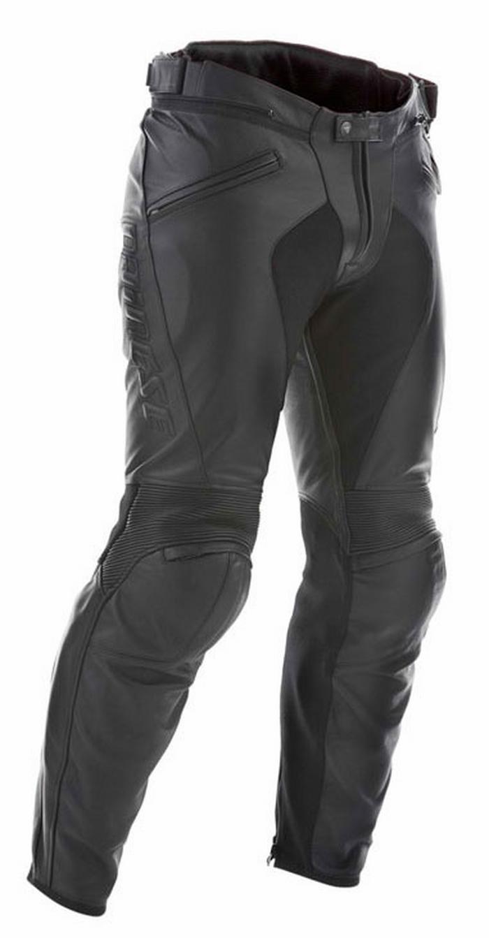 Dainese leather motorcycle pants C2 Black Pony