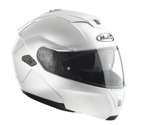 HJC SYMAX III flip off helmet Pearl White