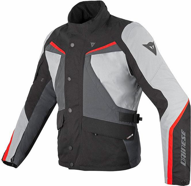 Giacca moto Dainese Ice Evo Gore-Tex nero high rise rosso