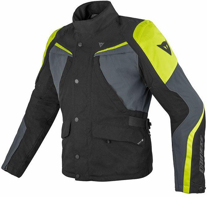 Giacca moto Dainese Ice Evo Gore-Tex nero nero antracite giallo