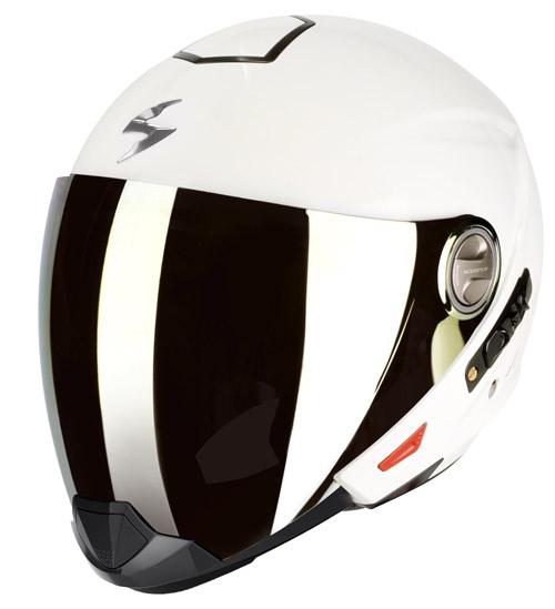 Scorpion Exo 300 Air flip off helmet White