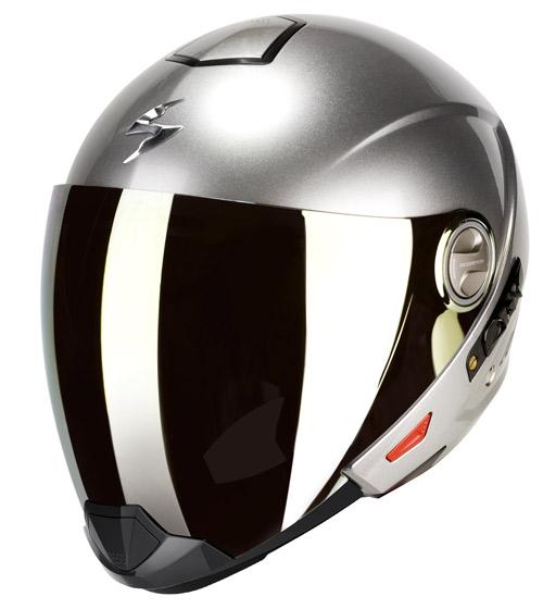 Scorpion Exo 300 Air flip off helmet Hypersilver