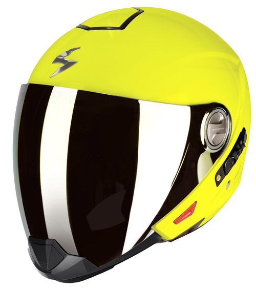 Scorpion Exo 300 Air flip off helmet Neon Yellow