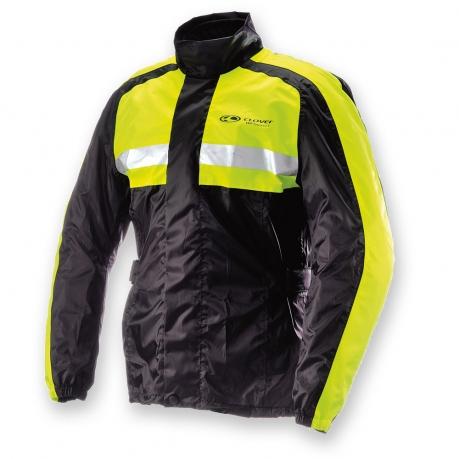 Clover Wet Rain Jacket Black Yellow