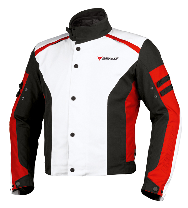 Dainese Xantum D-Dry motorcycle jacket white-black-red
