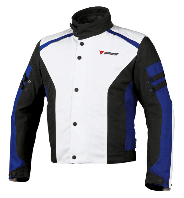 Dainese Xantum D-Dry motorcycle jacket white-black-blue