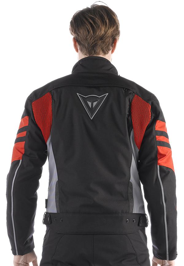 Giacca moto Dainese Xantum D-Dry nero-castle rock-rosso