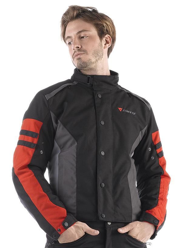 Dainese Xantum D-Dry motorcycle jacket black-castle rock-red
