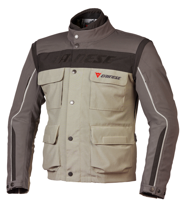 Dainese Evo-System D-Dry motorcycle jacket dune-gray-black