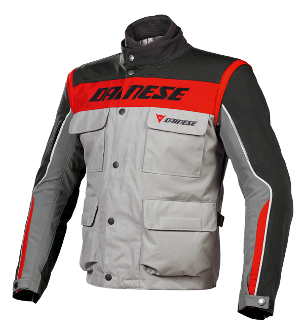 Dainese Evo-System D-Dry motorcycle jacketsteeple gray-black-red