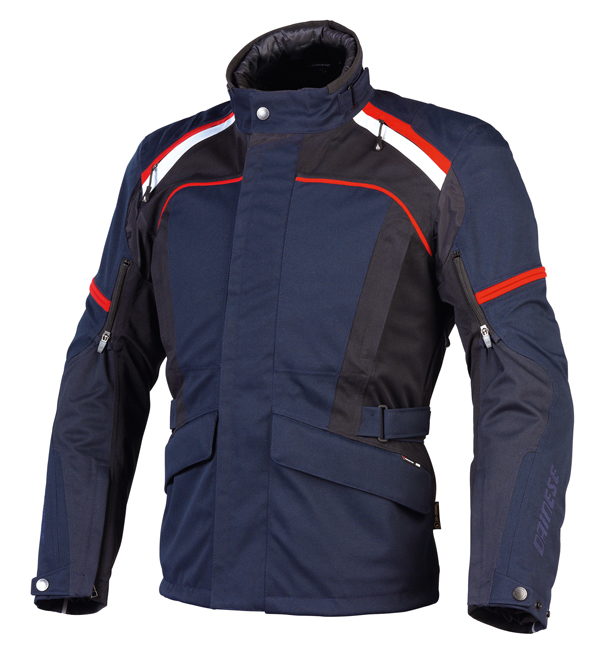 Dainese Marsh D-Dry motorcycle jacketblue night-black-autumn red