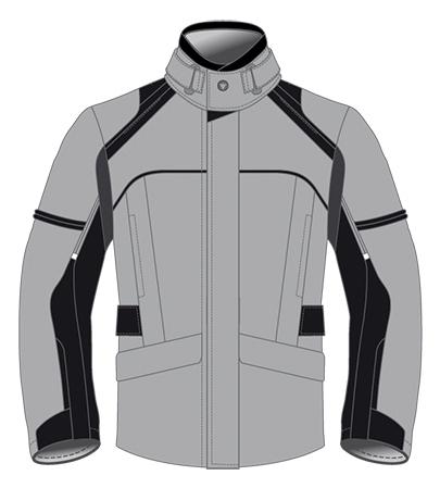 Dainese Marsh D-Dry motorcycle jacket steeple gray-black