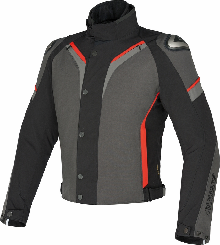 Jacket Dainese Aspide D-Dry Dark Gull Gray Black Red
