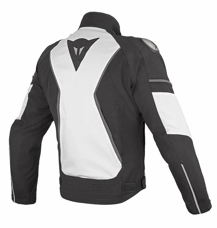 Giacca moto Dainese Aspide D-Dry Nero Bianco Dark gull gray