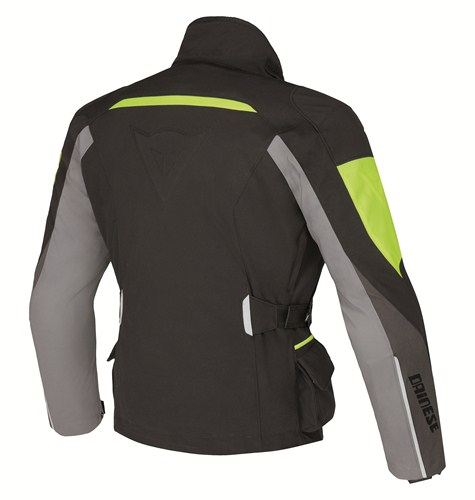 Dainese Temporale D-Dry jacket black-dark gull rise-yellow fluo