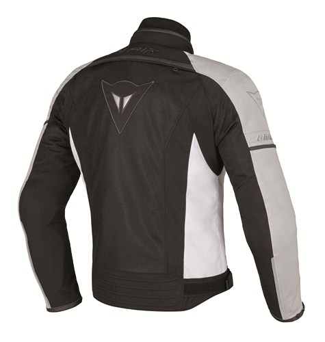 Dainese Spedio D-Dry motorcycle jacket black white high rise