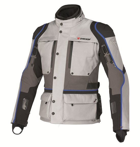 Giacca moto Dainese Teren D-Dry high rise-grigio-blu