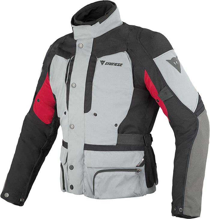 Giacca moto Dainese D-Stormer D-Dry castle rock - nero - rosso