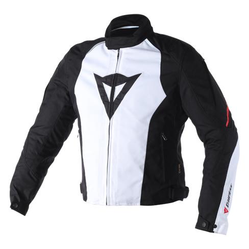 Giacca moto Dainese Laguna Seca D-Dry Bianco Nero Rosso