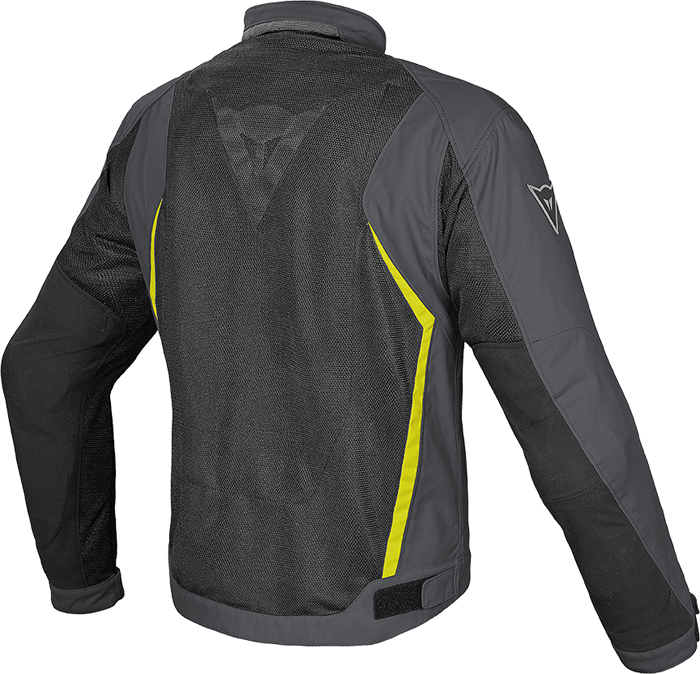 Dainese Hydra Flux D-Dry jacket Black Dark Gull Yellow