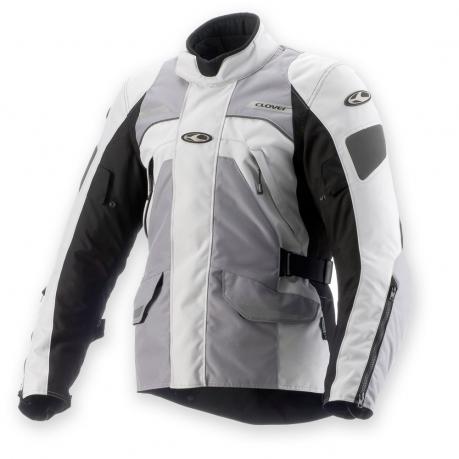 Motorcycle jacket Clover Commander WP 3 layer Black Grey