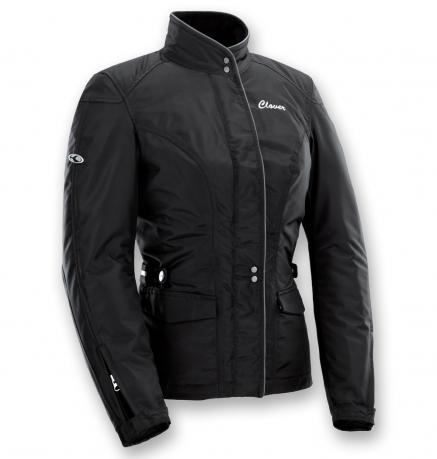 Motorcycle jacket woman Venus WP Black Clover