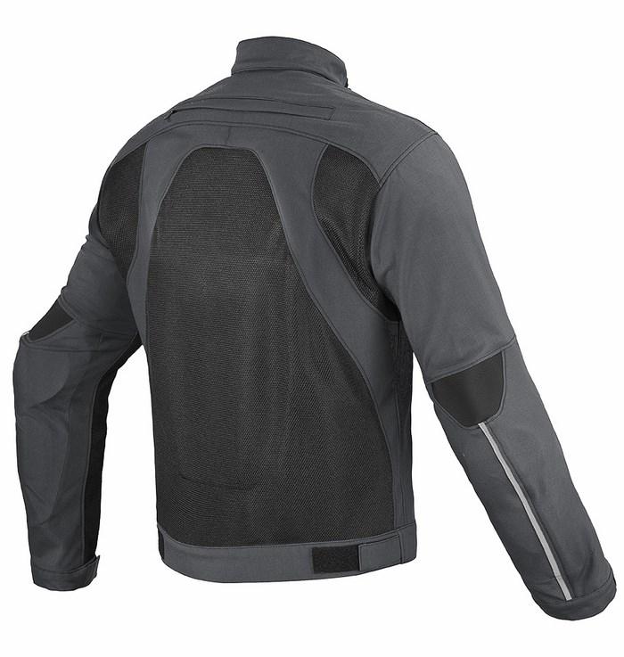 Motorcycle jacket Dainese Air Flux Tex Dark Gull Gray Black