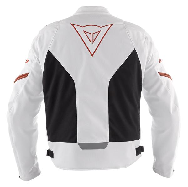 Dainese Racing Tex motorcycle jacket white-black