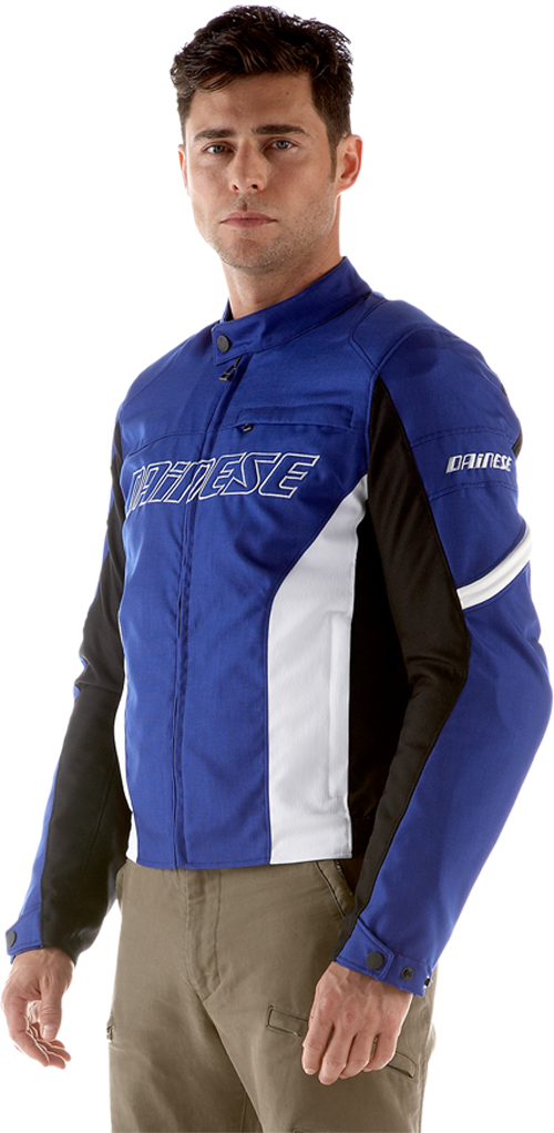 Dainese Racing Tex motorcycle jacket blue-white
