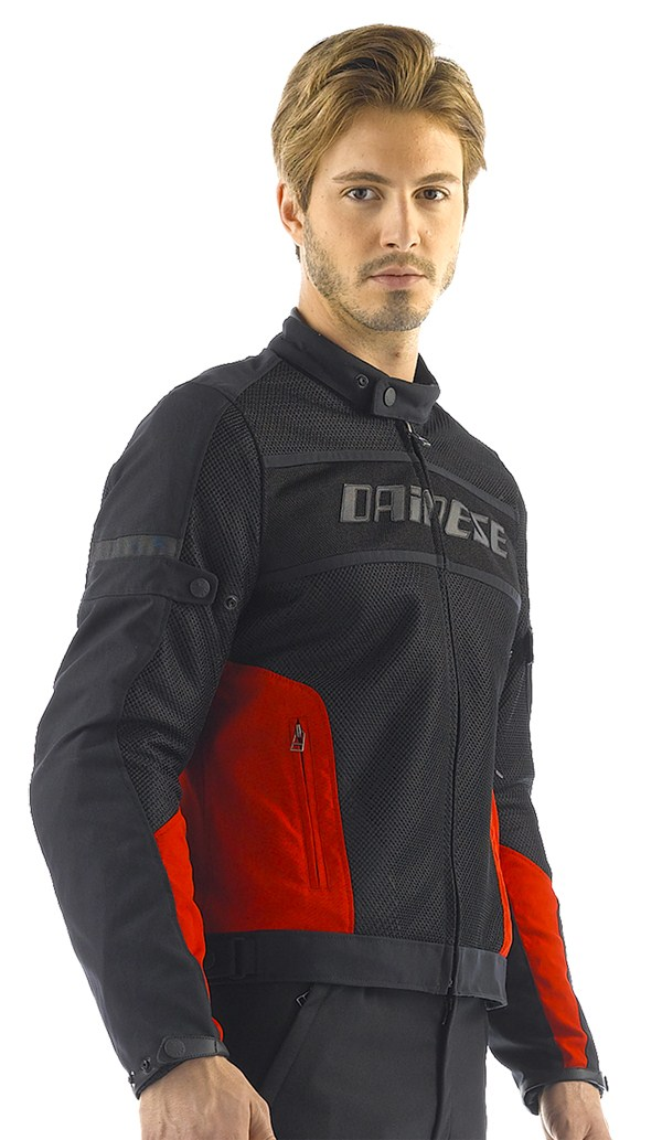 Dainese Air-Frame Tex summer motorcycle jacket black-red