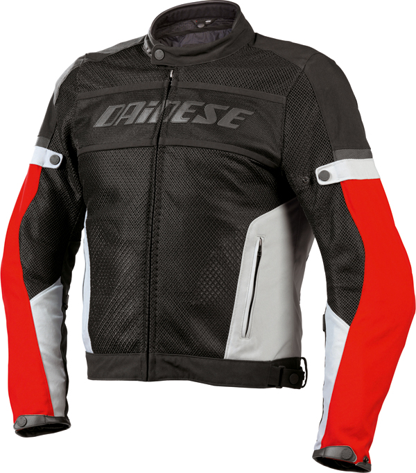 Dainese Air-Frame Tex summer motorcycle jacket black-gray-red