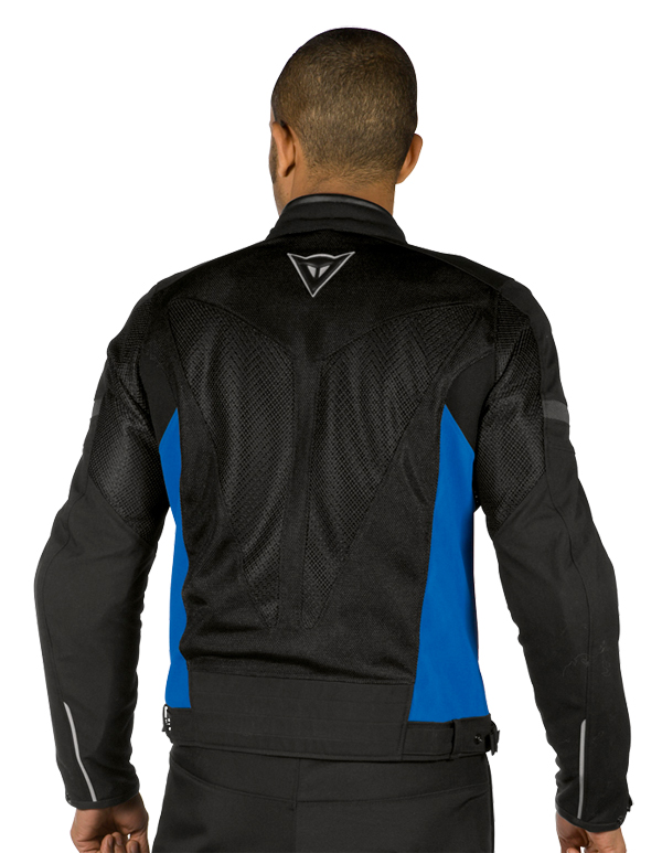 Dainese Air-Frame Tex summer motorcycle jacket black-blue