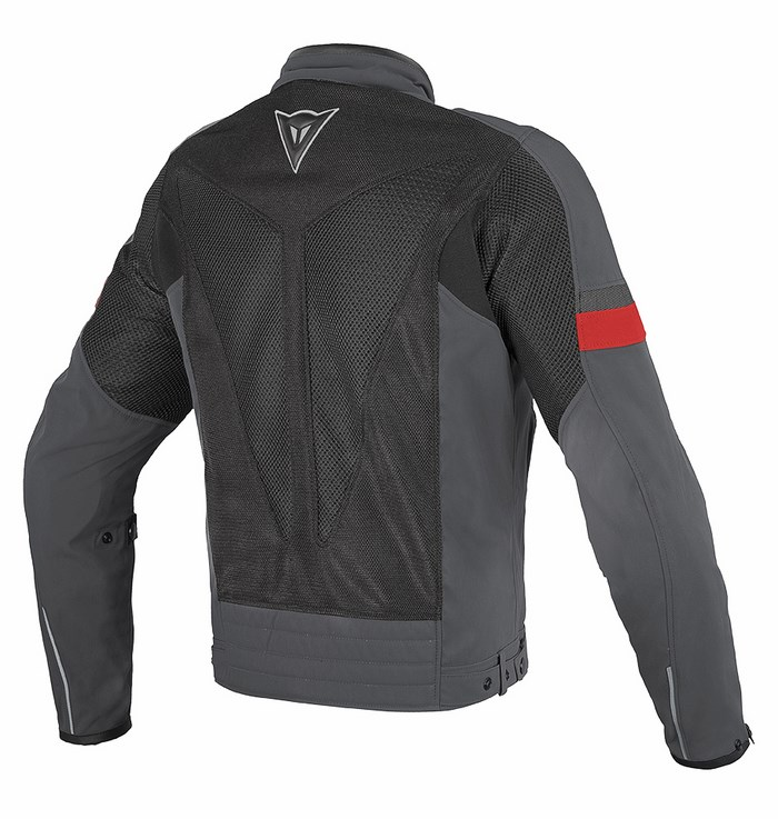 Dainese Air Tex Jacket Black Frame Dark gull gray Red